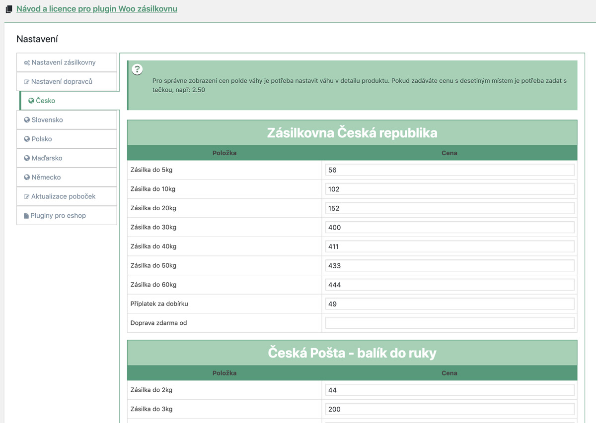 zasilkovna-woocommerce-cr